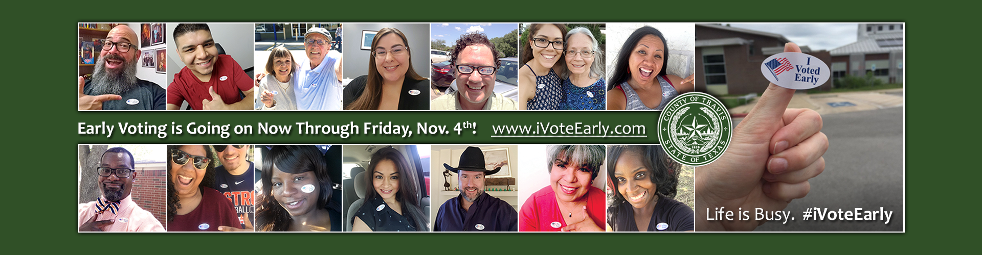 Early Voting: Monday, Oct. 24 - Friday, Nov. 4