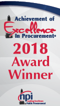 achievement of excellence in procurement 2018 award winner