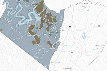 Balcones Canyonlands Conservation Plan Permit Area Map